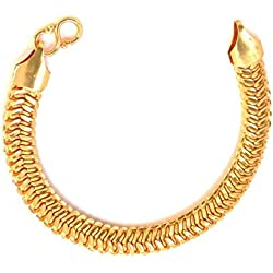 Magic Stones 18CT Gold and Rodhium Coated Mens Dazzling Bracelet at Special Diwali Offer