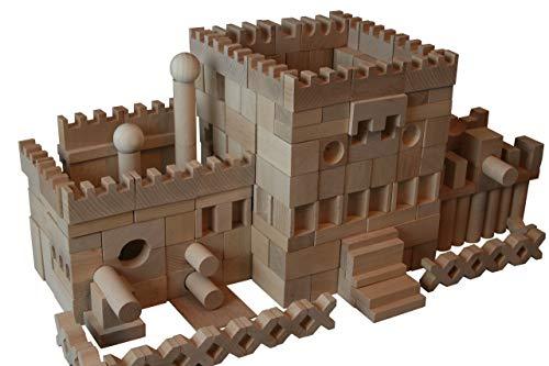 Dabo 220 Stück XL Holzbausteine Buchenholz Bauklötze Holzklötze Holzspielzeug Natur DUMA-Welt NEU
