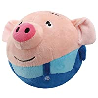 ✿✿Features:  1.Singing, speaking, recording, bouncing to 5cm. 2.Soft fabric, with zipper on the back, removable, washable. 3.Electric plush toy, USB rechargeable, can last for about 1hour after charging 3 hours. 4.Perfect Christmas gift for your fami...