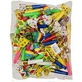 1097 - Divertenti trombette per feste, colori assortiti, 48 pezzi