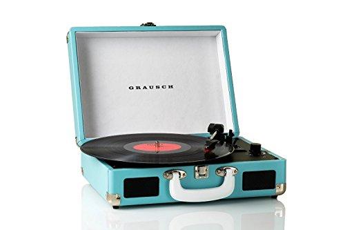 Portable 3 Speed Vinyl Turntable