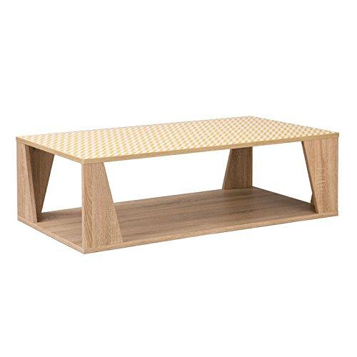 Tousmesmeubles Table Basse Chêne Clair scandinave - Teddy - L 110 x l 60 x H 35 - Neuf