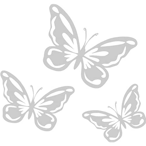 Butterfly etched effect frosted vinyl window stickers