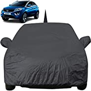 Autofact Car Body Cover for Tata Nexon with Mirror and Antenna Pocket (Light Weight, Triple Stitched, Heavy Bu