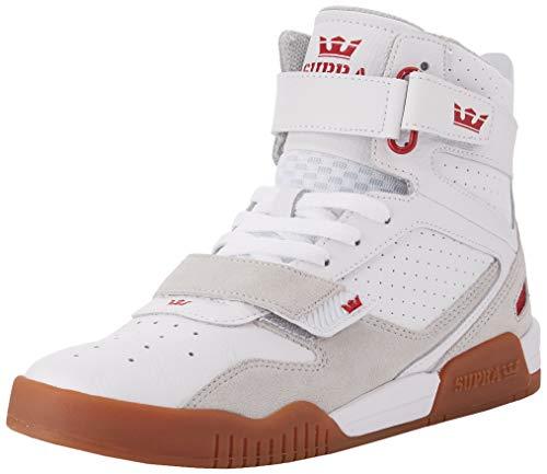 Supra Unisex-Erwachsene Breaker Hohe Sneaker, Weiß (White/Rose-Gum 173), 44.5 EU