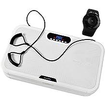 SKANDIKA Home Vibration Plate 900 Plus Oscillante-5 Programmes-2 Moteurs-Sangles Élastiques-Télécommande Au Poignet Plateforme Vibrante