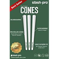Stash-Pro Bleached White Paper 56 Pro-Rolled King Size Cones