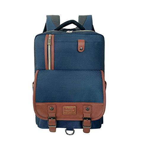(Yslin Groß Schule Rucksack Herren Laptop Backpack Damen Business Schulranzen Jungen Mode Schulrucksack Mädchen Trend Schoolbag Canvas (Blau))