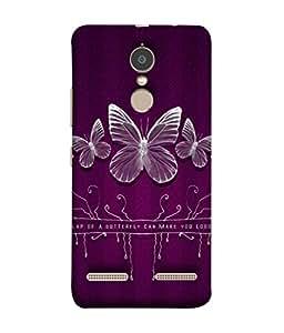 PrintVisa Designer Back Case Cover for Lenovo K6 (Purple Fly)