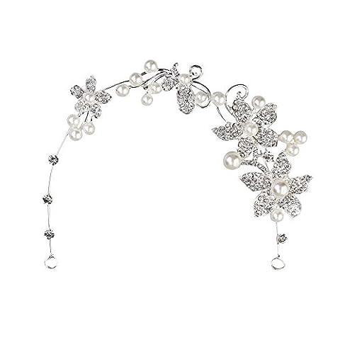 Femmes Accessoires Bijoux - Bijoux Fleurs de mariage Mariée cheveux Serre-tête