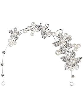 Haarschmuck Hochzeit Blumen Braut Haarreif mit Perlen Braut Haar Strass - Très Chic Mailanda