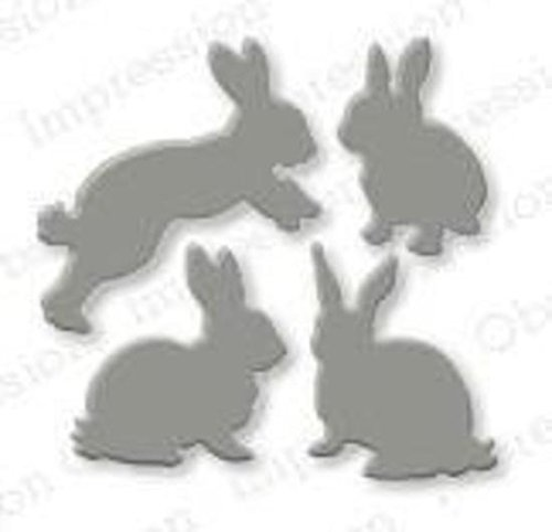 Rabbit Set Steel Die for Scrapbooking (DIE168C) by Impression Obsession