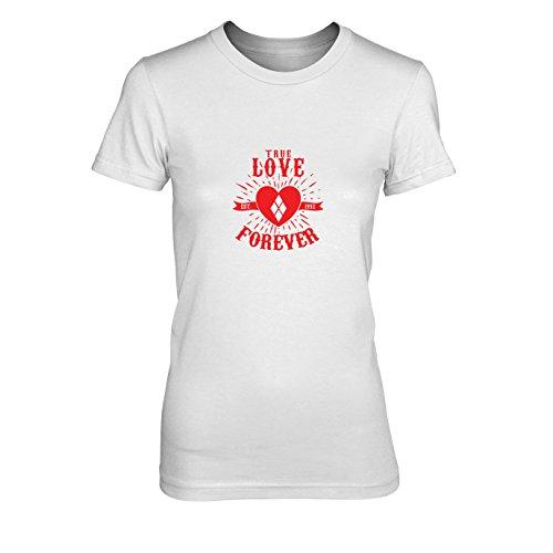 Damen T-Shirt, Größe: XL, Farbe: weiß (Batman Forever Kostüm)