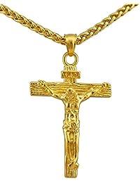 Goldkette mit kreuz herren  Suchergebnis auf Amazon.de für: Vergoldet - Ketten / Herren: Schmuck