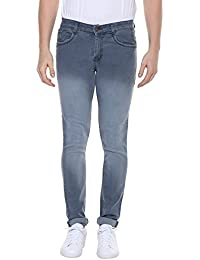 Urbano Fashion Men's Grey Slim Fit Stretch Jeans