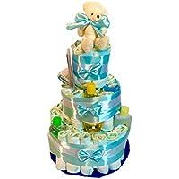 Tarta de pañales DODOT Jhonson´s baby azul