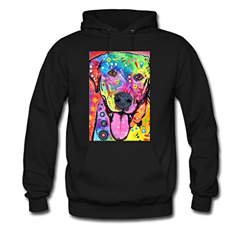 weileDIY Colorful Labrador DIY Custom Women's Classic Hoodie Sweatshirt Black
