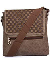Style Villaz Men Brown Leatherette Sling Bag