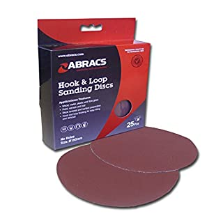 Abracs 150mm x 120g Hook and Loop Disc (25 Pieces)