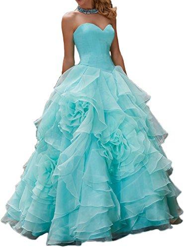 Gorgeous Bride Elegant Herzform Satin Organza Lang ALinie ...