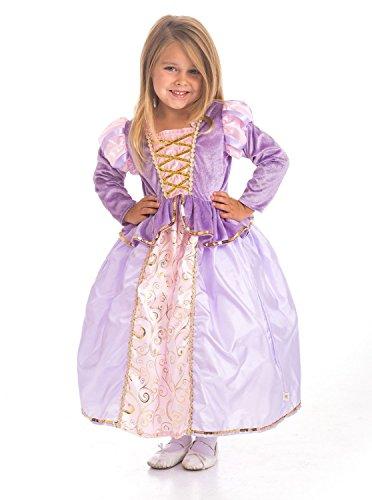 Rapunzel Kostüme Toddler (Little Abenteuer Klassische Rapunzel Mädchen Prinzessin Kostüm–Large Plus)
