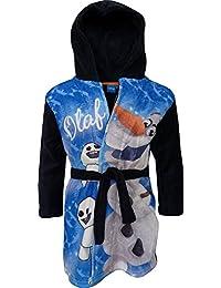 Disney Frozen Olaf Niños Suave paño grueso y con capucha Bata de baño / Albornoz Azul Marino