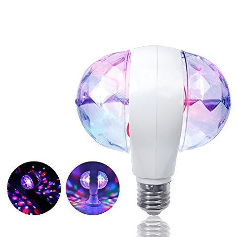 ZjRight E27 Mini Disco Lichter Birnen Lampen Auto Rotating RGB Vollfarbige LED für DJ Stage Home Party