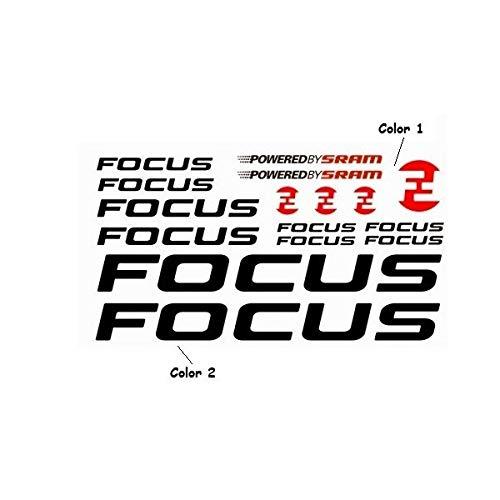 SUPERSTICKI Focus Sponsorset 371 ca 30cm Motorrad Bike Fahrrad Mountain Aufkleber Bike Auto Racing Tuning aus Hochleistungsfolie Aufkleber Autoaufkleber Tuningaufkleber Hochleistungsfolie f