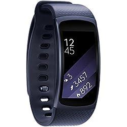 Reloj banda, happytop silicona correa de reloj pulsera correa de muñeca correa de repuesto con adaptador para Samsung Gear Fit 2sm-r360, color azul, Informal