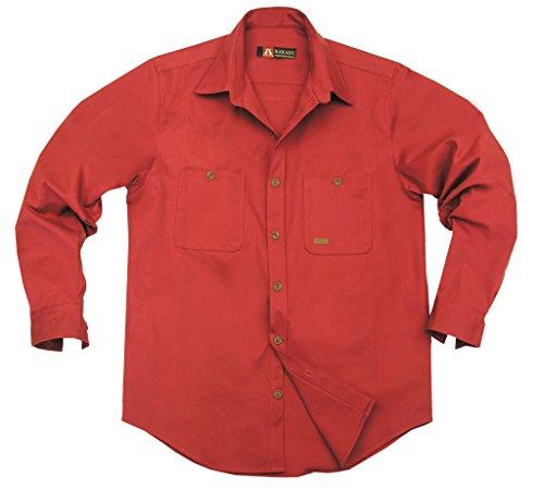 kakadu-australia-chemise-casual-homme-rouge-m