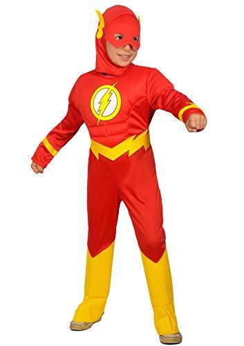 The flash costume bambino originale dc comics (taglia 8-10 anni)