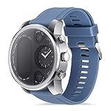 LJSHU Männer und Frauen Smart Watch IP68 Wasserdichte Messung Herzfrequenz Blutdruck 15 Arten von funktionalen Sport Armband,Blue