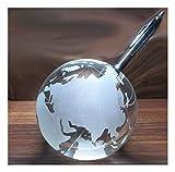Kaltner Präsente Siftehalter - Ein ganz besonderes Geschenk: Weltkugel Globus aus Glas 10 cm Stiftablage mit Öffnung für Füllfederhalter, Kugelschreiber, Füller, Stifte