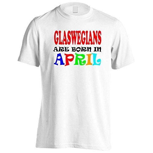 Glaswegians nascono AD APRILE DIVERTENTE Uomo T-shirt w33m White