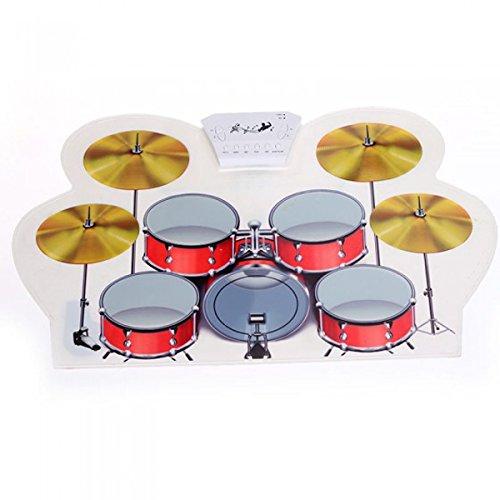 USB MIDI Drum Kit PC Desktop Rolle bis Elektronische Drum Pad Tragbare mit Drumsticks
