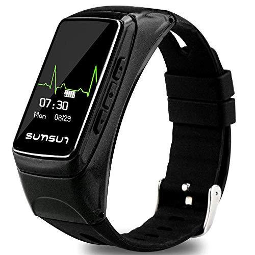 Intelligente Uhr Armband Fitness Bluetooth Anruf Schritt Herzfrequenz Test Anruf beantworten Erinnerung Hand Heller Bildschirm schwarz