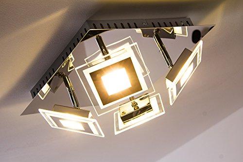 PLAFONIERA Cromo vetro Cerreto LED 16 Watt 1600 lumens 3000 Kelvin bianco caldo