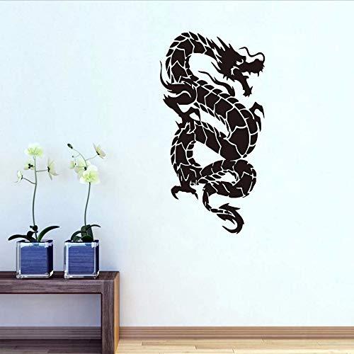 Waofe oriental dragon wall stickers vinyl art adesivo carta da parati smontabile soggiorno decorativo grande divano sfondo home decor 44 * 81 cm