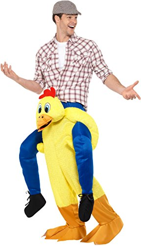Imagen de smiffy 's–disfraz de 48812piggyback pollo, color amarillo, talla única alternativa