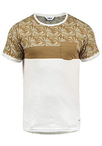 !Solid Florian Herren T-Shirt Kurzarm Shirt Rundhals-Ausschnitt aus 100% Baumwolle Meliert, Größe:L, Farbe:Ermine (5944) -