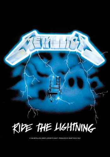 Bandiera Metallica - Ride the Lightning musica posterflaggen - dimensioni 75 x 110 cm