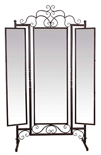Casa-Padrino Espejo Art Nouveau Marrón 129,5 x 40 x H. 204 cm - Muebles Barroco y Art Nouveau