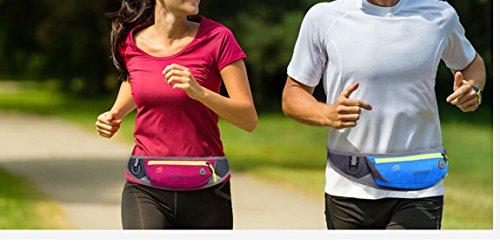 lethigho leicht Schweiß-Running Gürtel Fanny Pack Casual Outdoor Race Belt Sport Bum Bag Radfahren Wandern Taille Pack Läufer Gürtel Taille Tasche für Handy und andere Essentials Black1