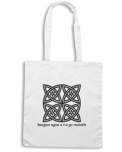 T-Shirtshock - Borsa Shopping T0113 NODO CELTICO religioni celtic Bianco