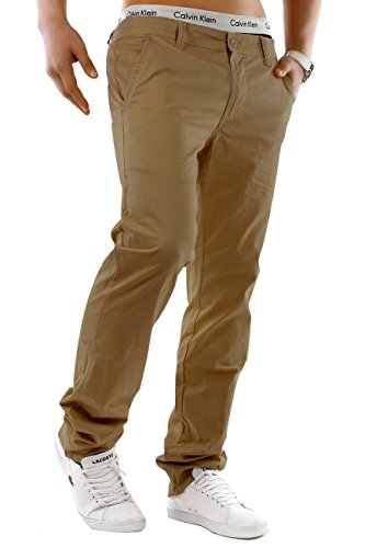 Herren Chino Hose Estate Colori ID1245 Straight Fit , Farben:Braun;Größe Hosen:W34