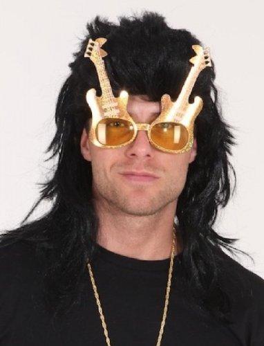 Kostüm Rockstar Party - Orlob Brille Gitarre zum Rockstar Kostüm an Karneval Fasching Party