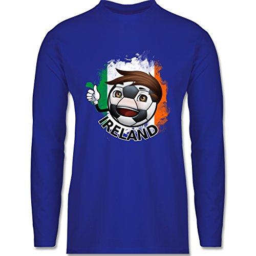 Shirtracer Fußball - Fußballjunge Irland - Herren Langarmshirt Royalblau