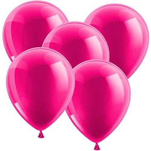 20x Ballon Luftballons Glänzend Latexballons Gummiballons - EUROPÄISCHE PREMIUMQUALITÄT - Freie Farbauswahl - auf jedem Geburtstag der Hingucker! (Pink)