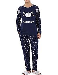 42a4332e32 YVWTUC Men s Pajamas Set Long-Sleeved Lounge Sleep 2 Piece Pyjamas  Top Bottom Sleepwear