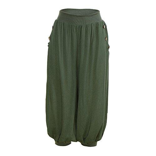 YWLINK Damen Kleidung,Frau Elastisch Taille Boho PrüFen Hose Ausgebeult Wide Leg Sommer LäSsiger Yoga Bloom Hosen